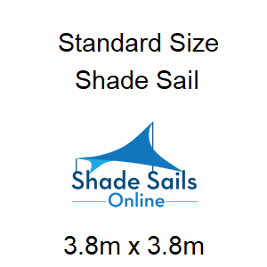 3.8mx3.8m shade sail