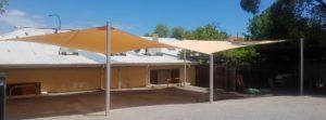 Car park with shade sails