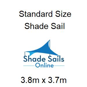 standard size shade sa 3.8m x 3.7m