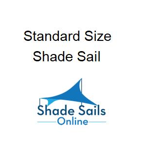 standard size shade sails